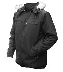 Insulated autumn-winter jacket - black