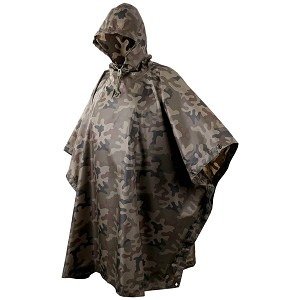 Waterproof Poncho RipStop Helikon-Tex Polish Woodland