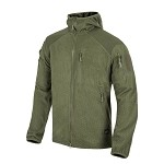 Helikon-Tex Alpha Tactical HOODIE Grid Fleece - Olive Green