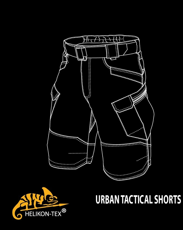 Shadow Grey Polycotton Ripstop Helikon-Tex Urban Tactical Shorts 11