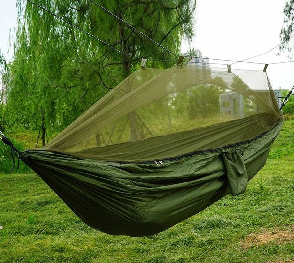 Tourist Hammock With Mosquito Net Olive