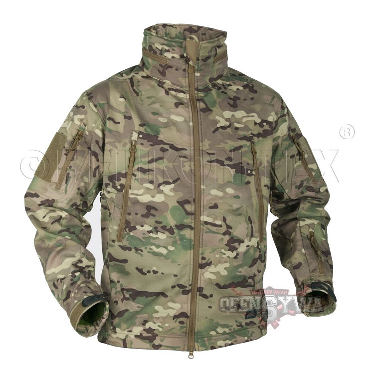 Helikon TEX GUNFIGHTER Shark Softshell Outdoor Jacke Jacket foliage L Large Bekleidung Herren
