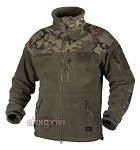 INFANTRY Jacket - Fleece - Olive Green/PL Woodland
