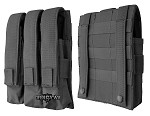 Triple magazine pouch for MP5, MAC-10/11 black