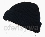 Black, padded docker cap