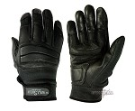 Leather tactical gloves RTK-black