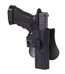 Release Button Holster for Glock 17 with Paddle-black
