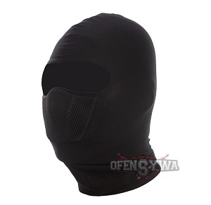 Flexible balaclava with the ventilation system - black
