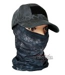 Multifunctional Chimney,bandana Kryptek Black No.6