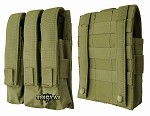 Triple magazine pouch for MP5, MAC-10/11 oliv