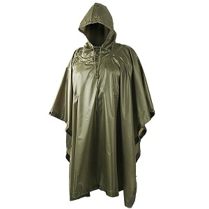 Waterproof Poncho RipStop Helikon-Tex Olive Green