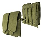 Double Rifle Mag Pouch M/4,M/16 oliv