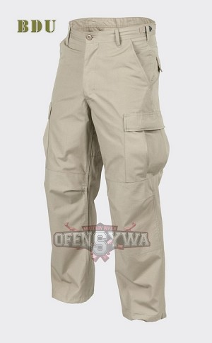 BDU Trousers Cotton 100% Ripstop Beige