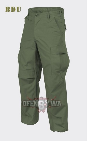 BDU Trousers Cotton 100% Ripstop Olive