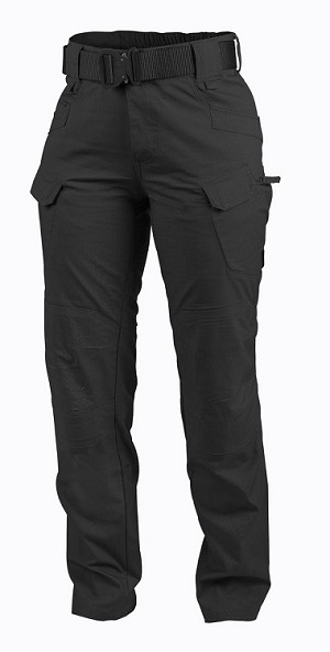 Women Tactical Pants Helikon UTW, UTL-RipStop -Black