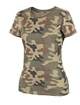 WOMEN'S T-Shirt Helikon- Cotton - PL Woodland