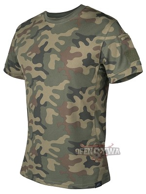 T-Shirt Tactical Helikon-Tex TopCool - Polish woodland